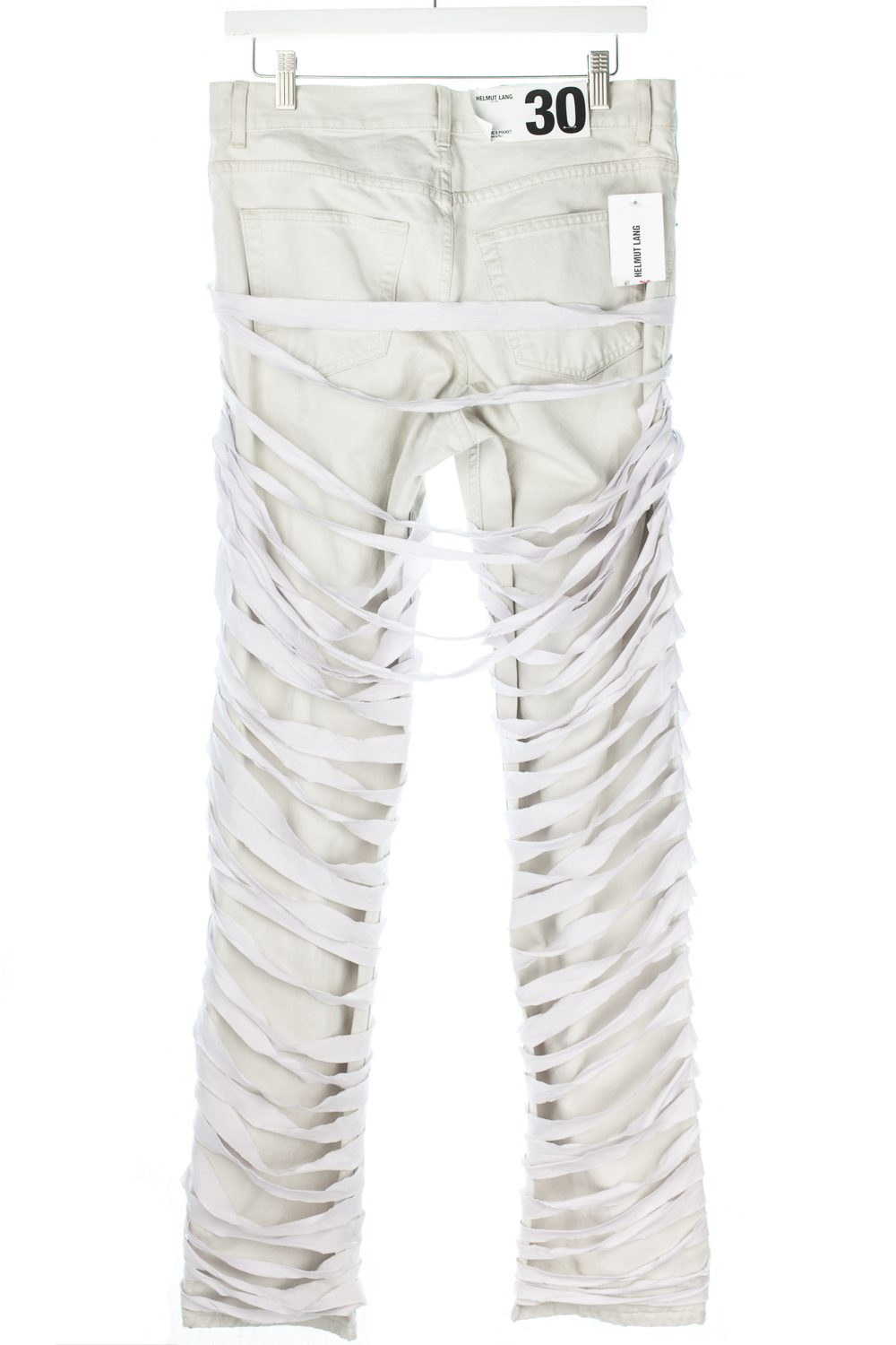 "NWT AW04 White on Stone Bondage ""Mummy"" Jeans"