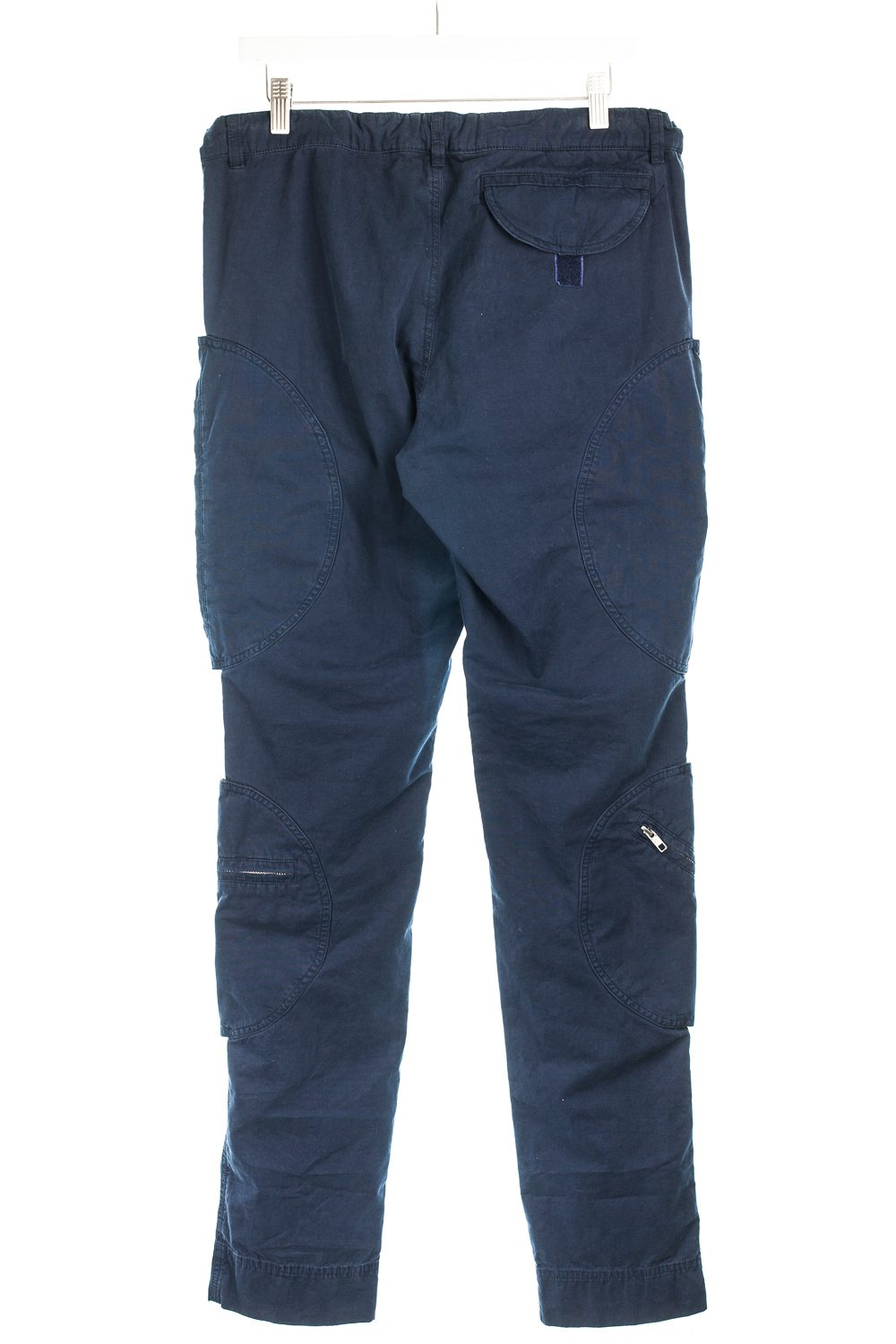 Velcro-Placed Zipped Pocket Cargo Trousers