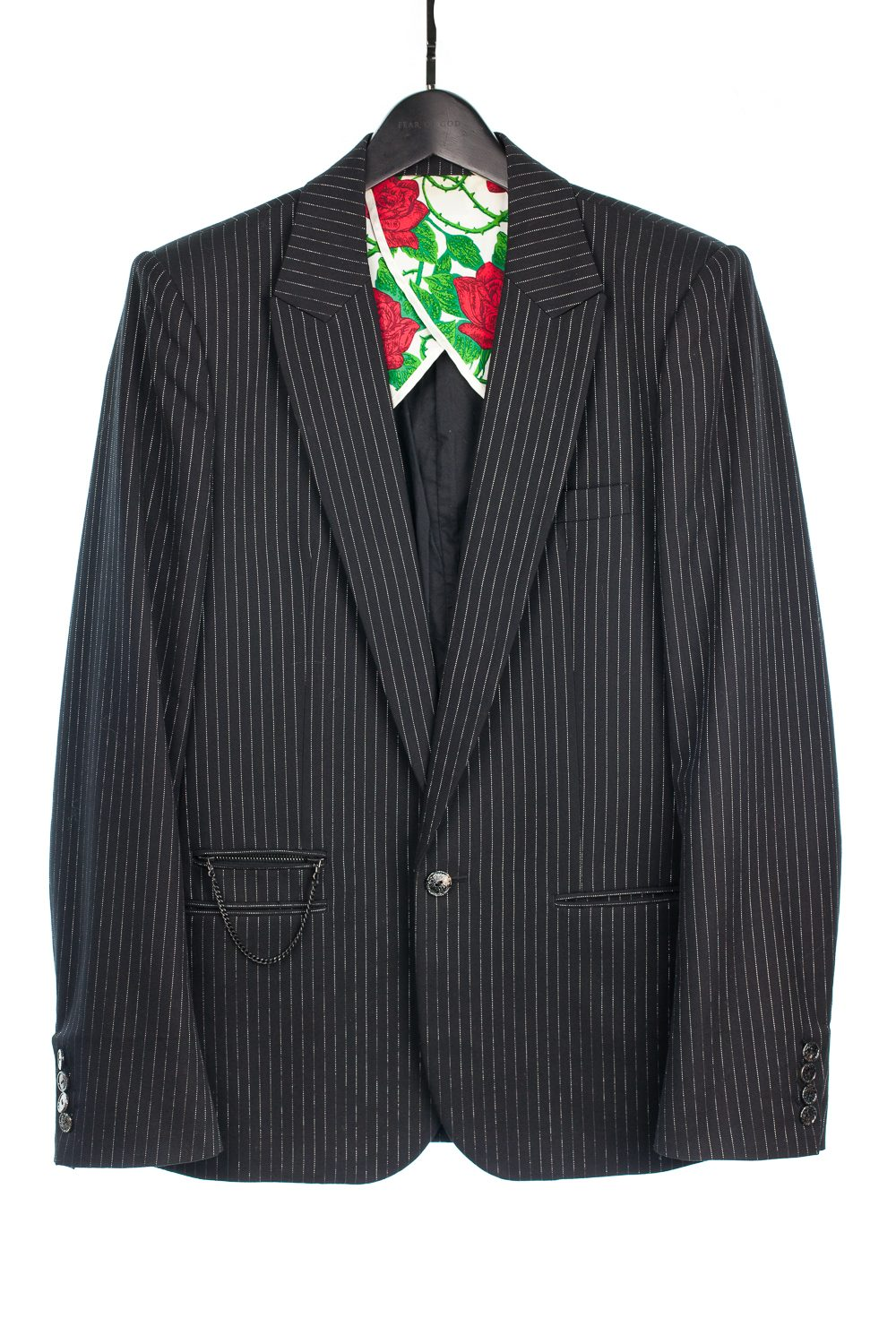"SS06 ""Welcome to the Shadow"" Silver Thread Pinstripe Blazer"