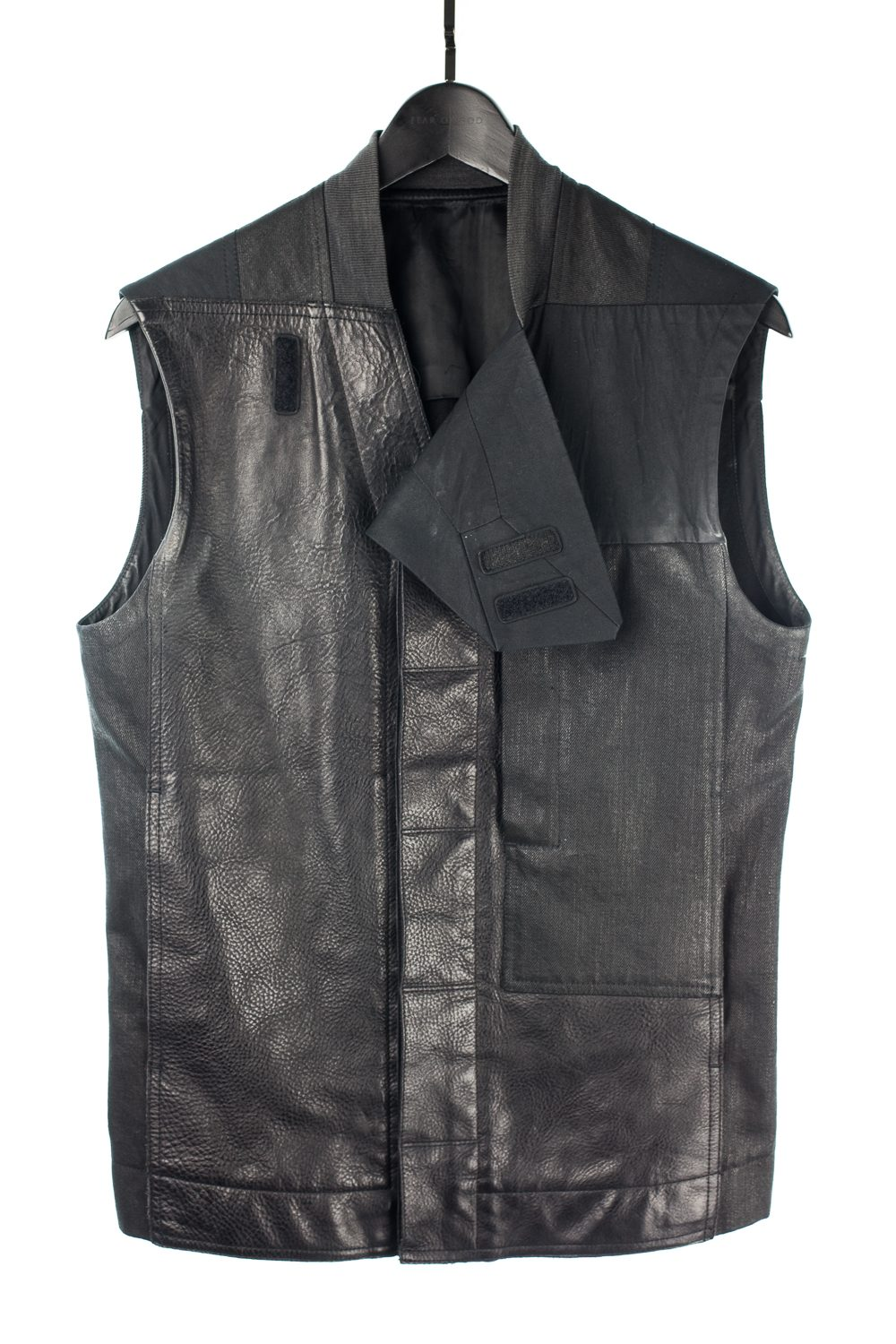 "SS13 ""Island"" Leather/Cotton Fitted Jungle Vest"