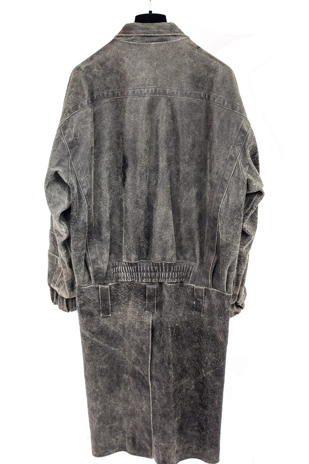 "AW02 ""Virginia Creeper"" Distressed Leather Coat"