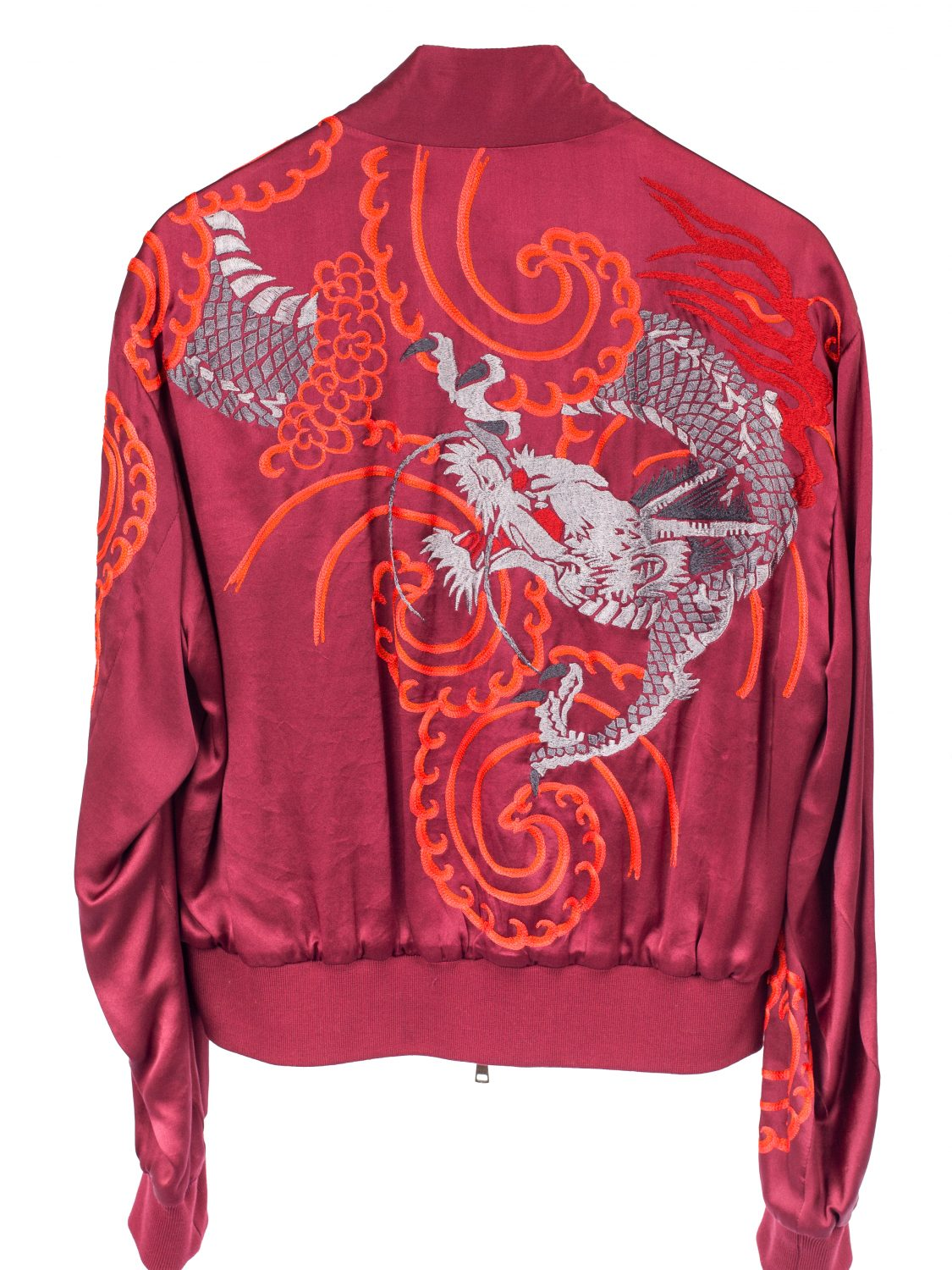 SS01 Reversible Dragon Embroidered Silk Jacket