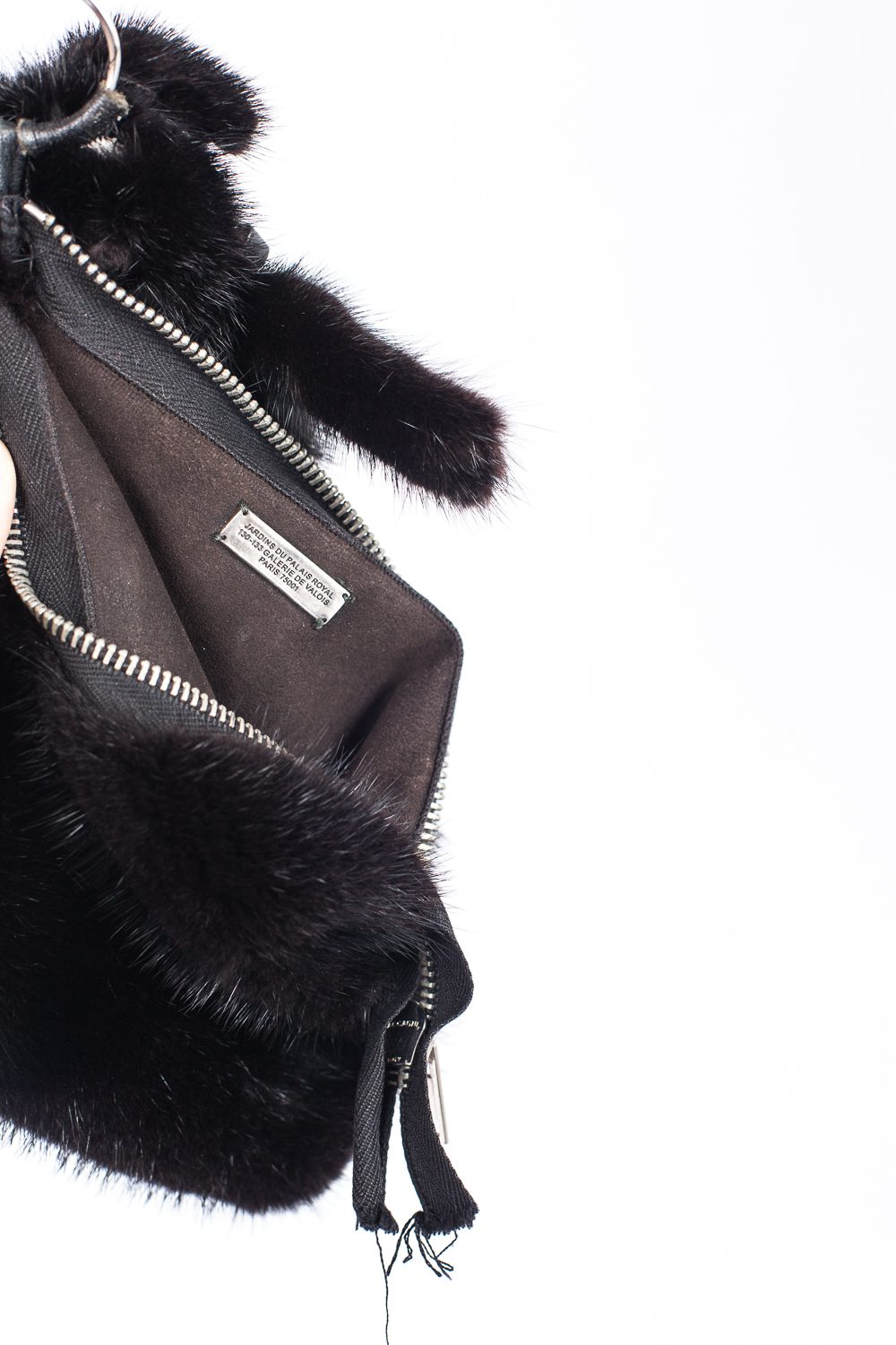"FW10 ""Gleam"" Mink Fur Bunny Cross Body Bag"