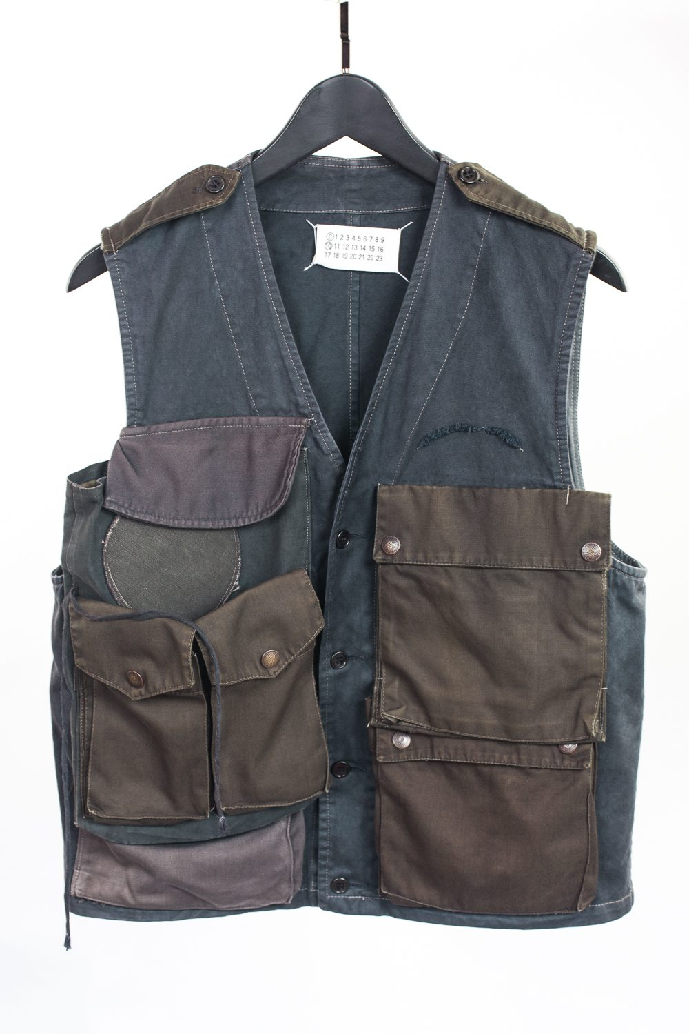 FW01 Artisanal Reconstructed Military Cargo Vest