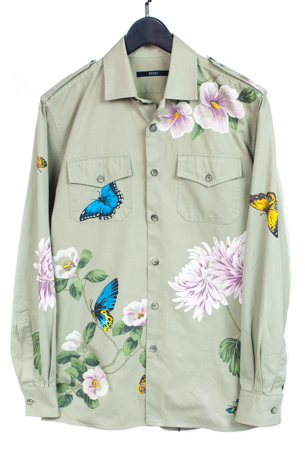Tom Ford Era Hand Painted Floral Camp Shirt