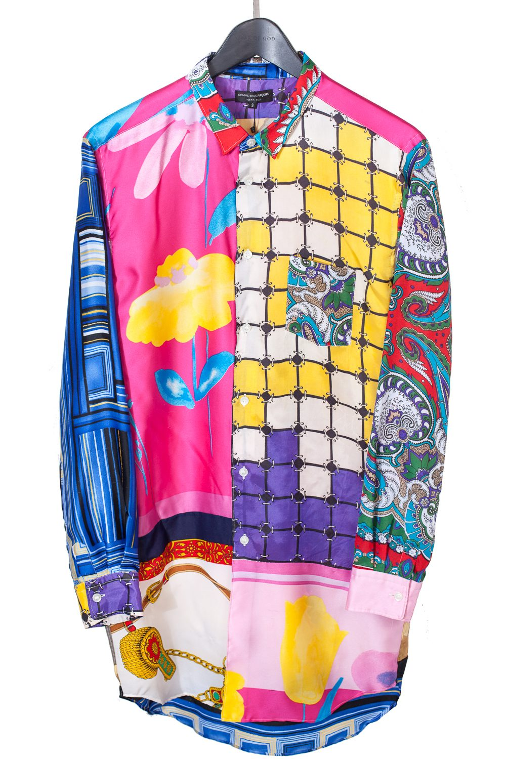 "FW11 ""Decadence"" Reconstructed Patchwork Silk Button Up"