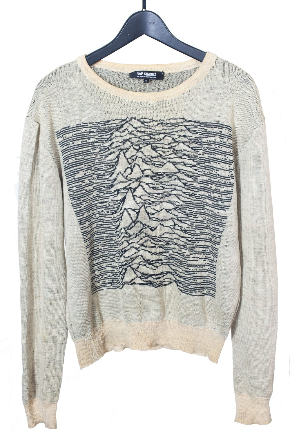 "FW03 ""Closer"" Unknown Pleasures Melange Knit"