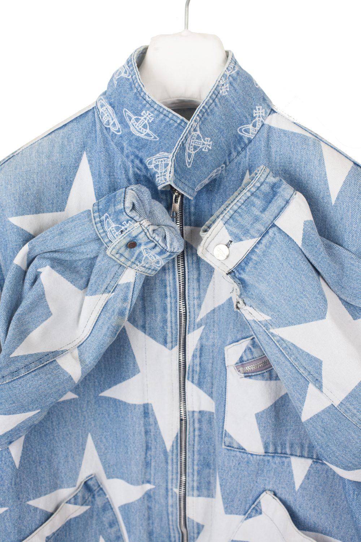 "90s ""Mini Crini"" Stars Denim Jacket"