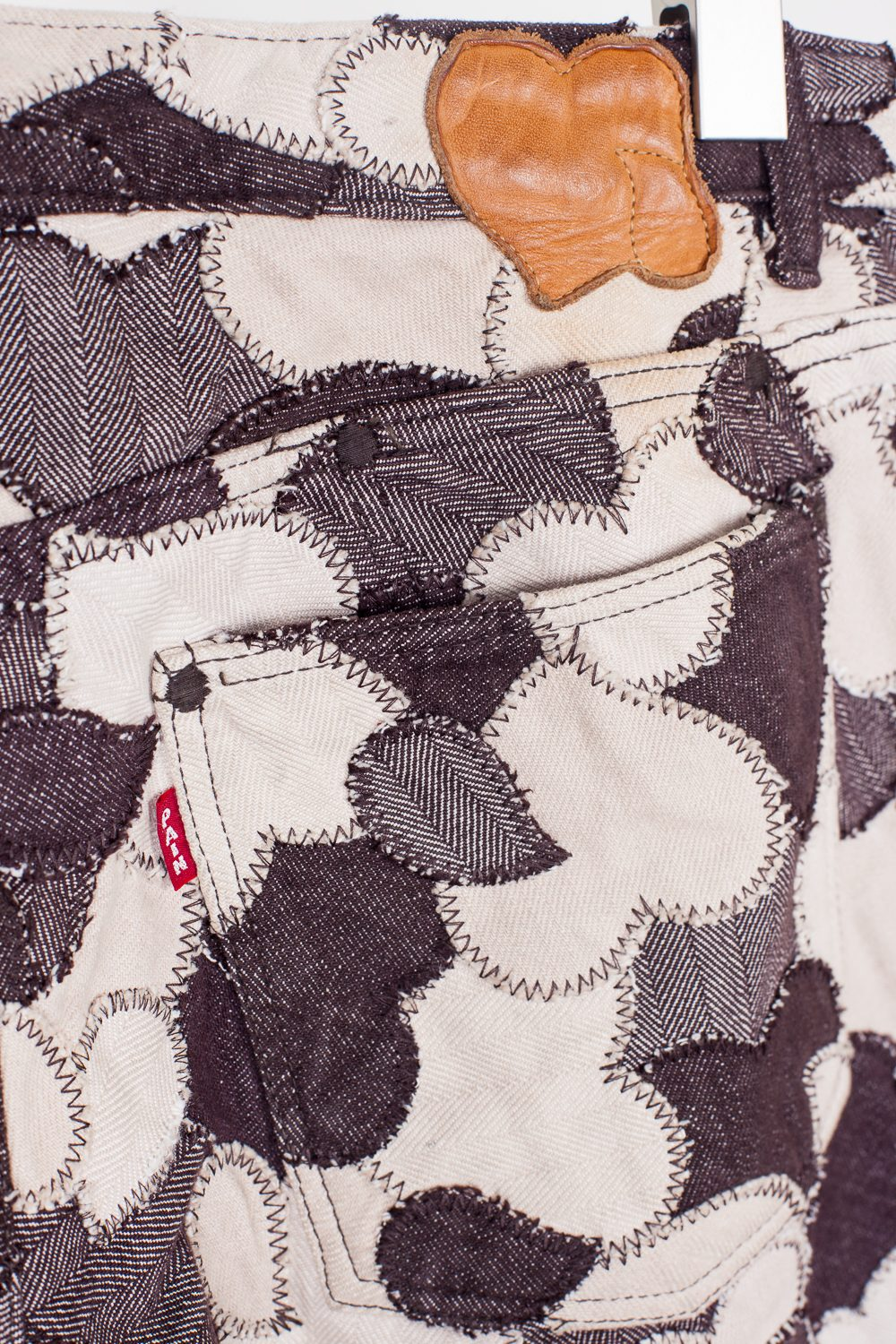 AW03 Patchwork Heart Pants
