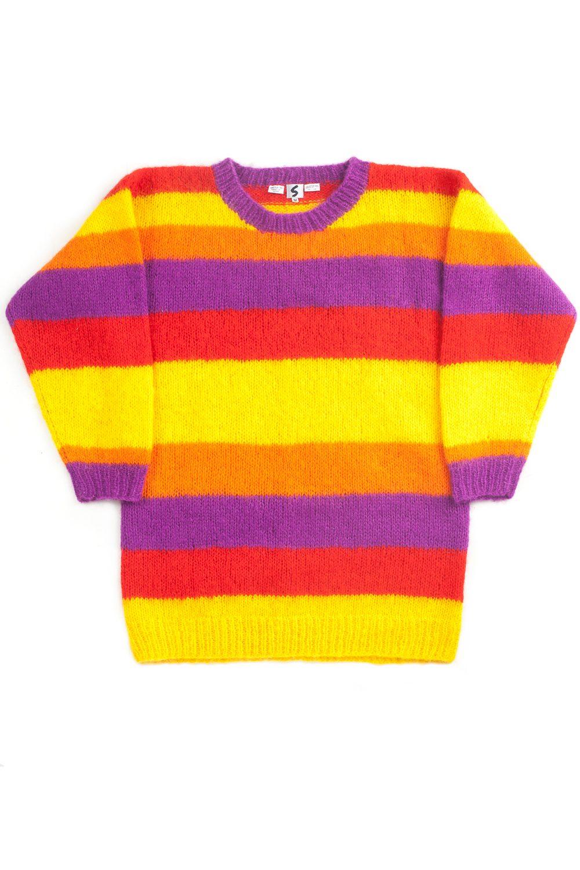 Multicolor Borderknit Sweater
