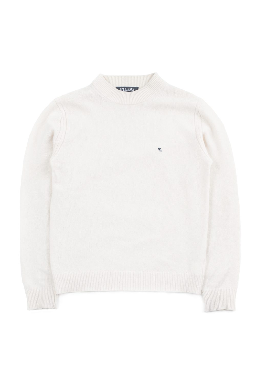 Fw09 Moc Neck Embroidered R Logo Knit