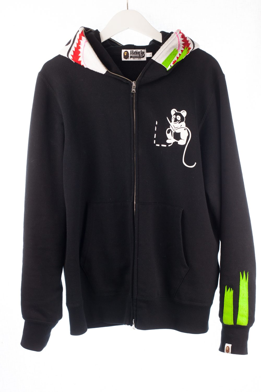 Black Panda Zip-Up Hoodie