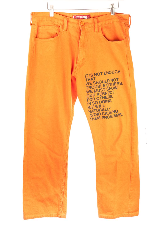Orange Poetry Pants
