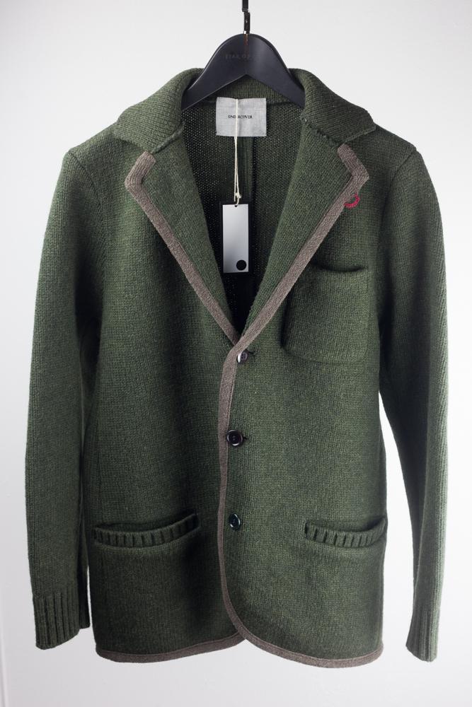 FW12 Lapel Rabbit Fur Knit Jacket
