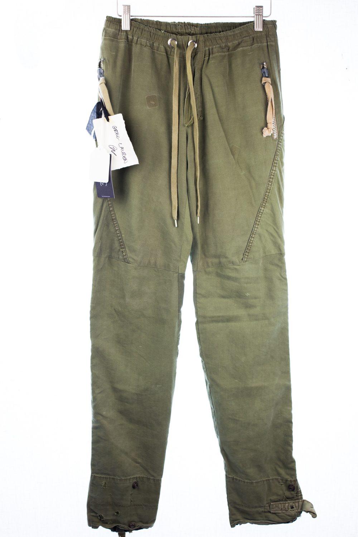 Army Tent Drawstring Pants w/ Zips