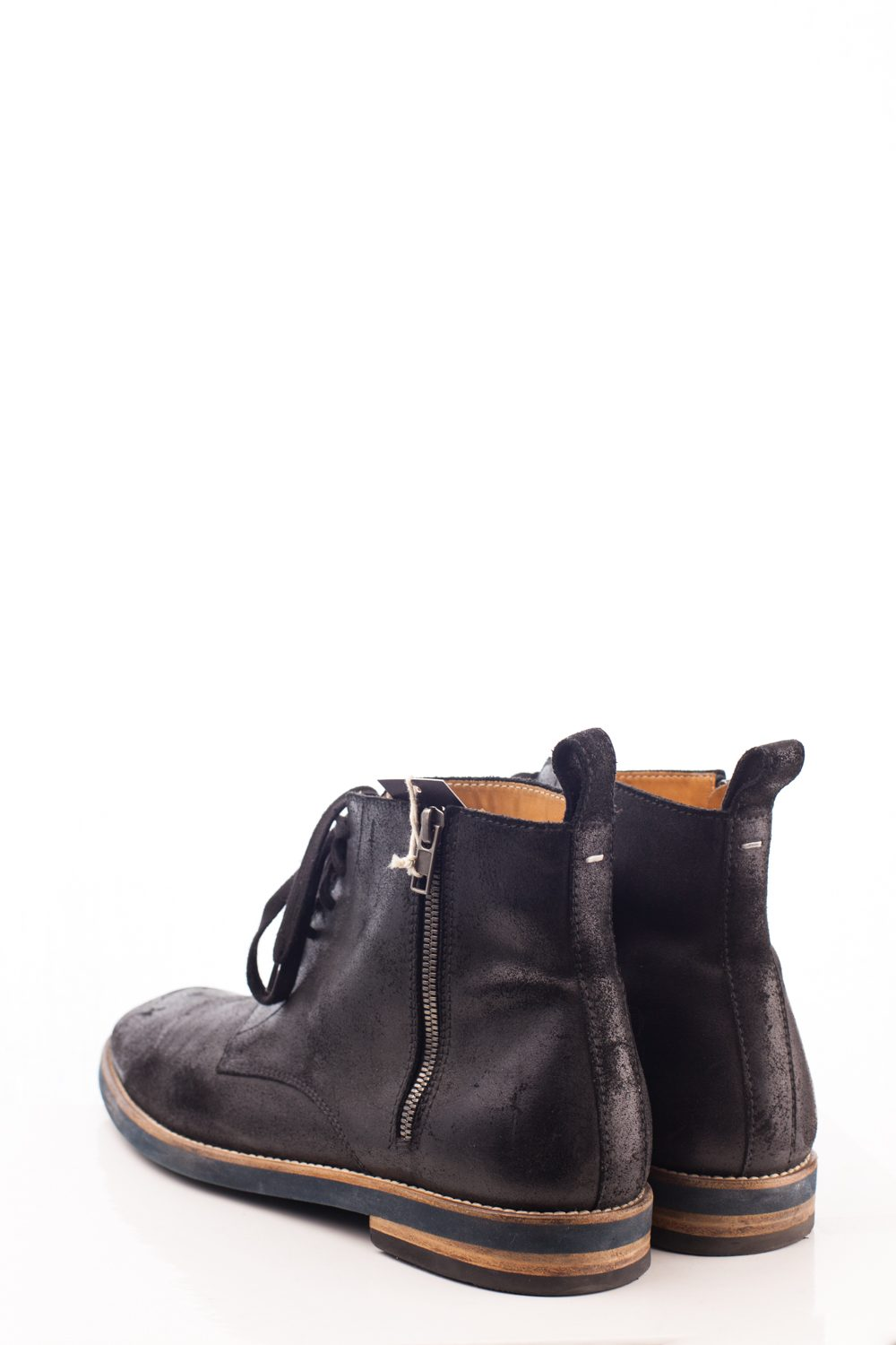 Distressed Side Zip Ankle Boot