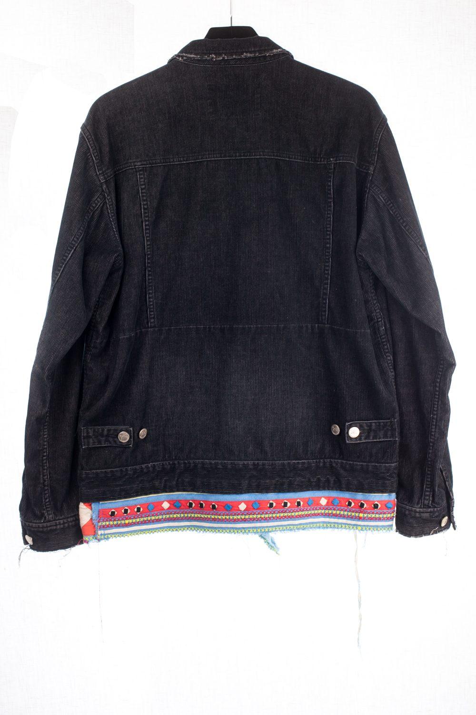 Scab Black Jean Jacket w/ Detail