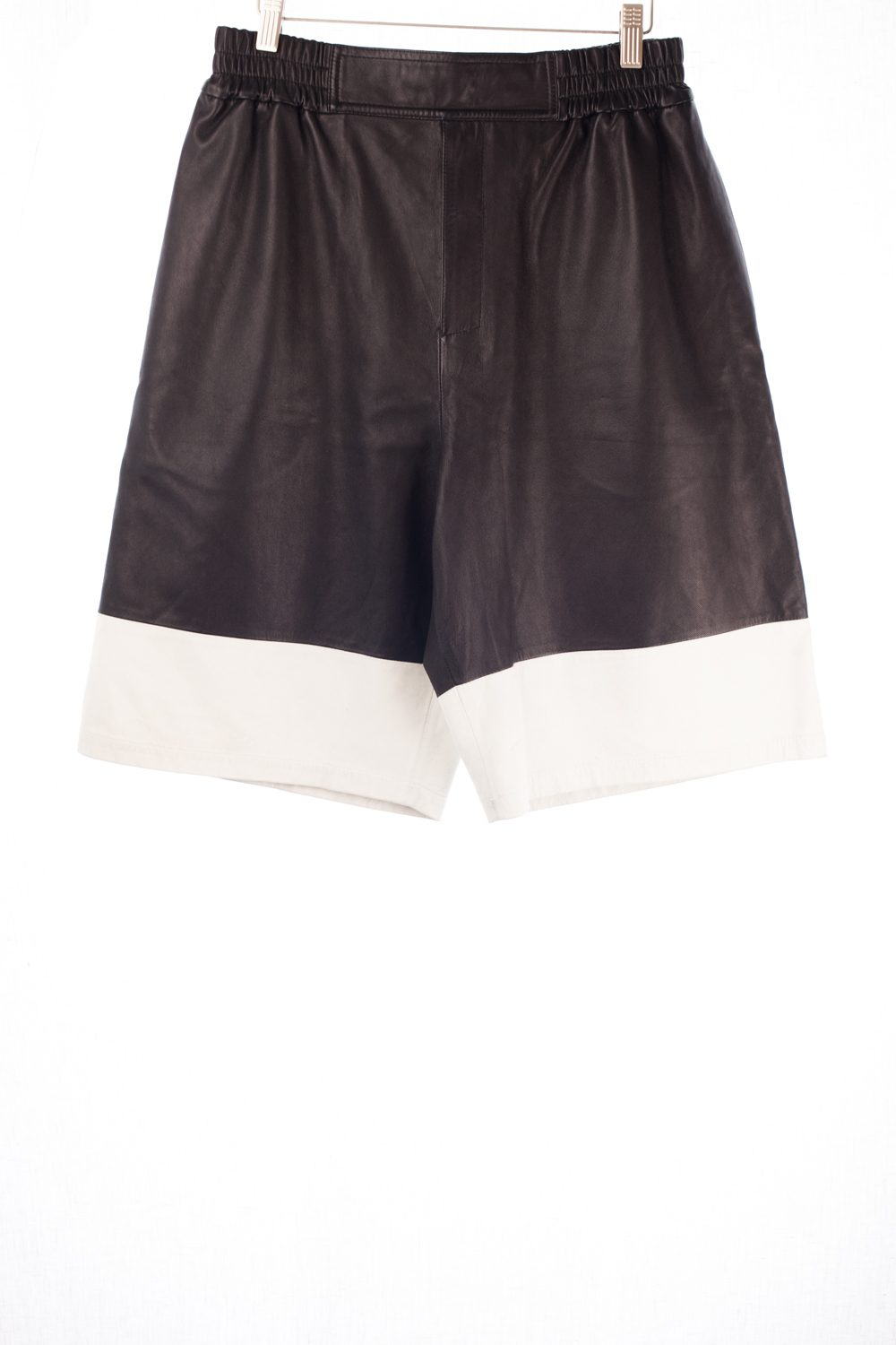 Perforated Calf Leather Shorts