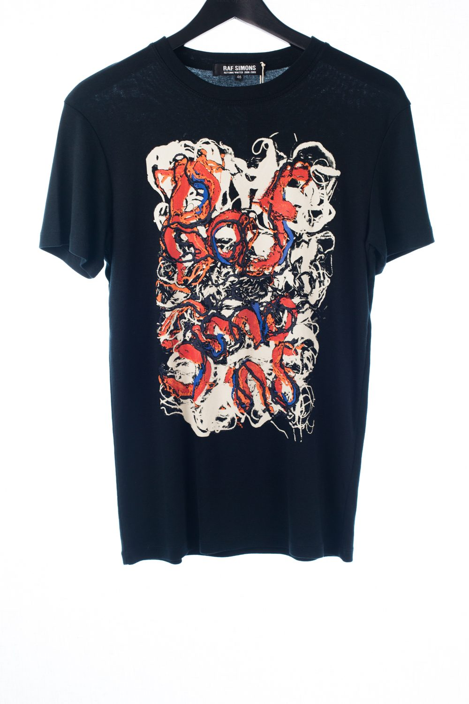 FW08 Abstract Spun Wool Graphic Shirt
