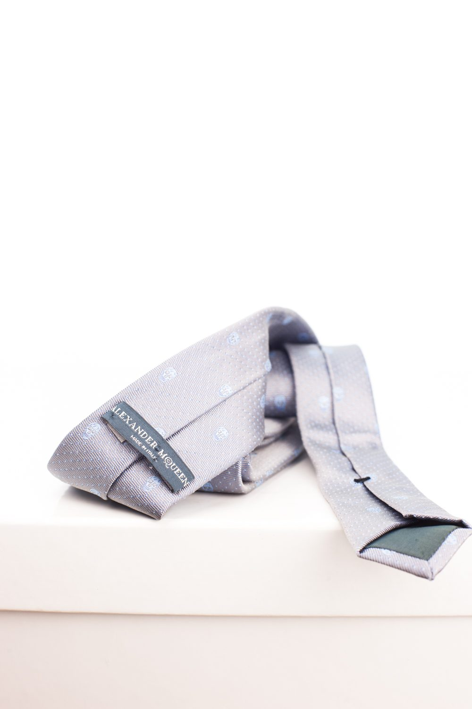 Silk Skull Jacquard Tie