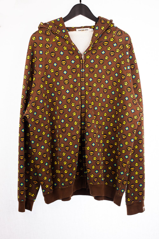 """Louis Vuitton"" Milo Pattern Zip Hoodie"