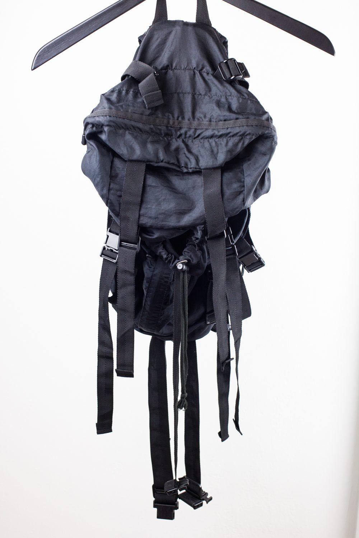 SS2002 Black Parachute Bag