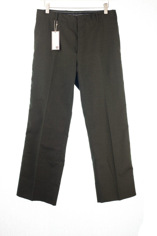 Straight Leg Dark Moss Trousers