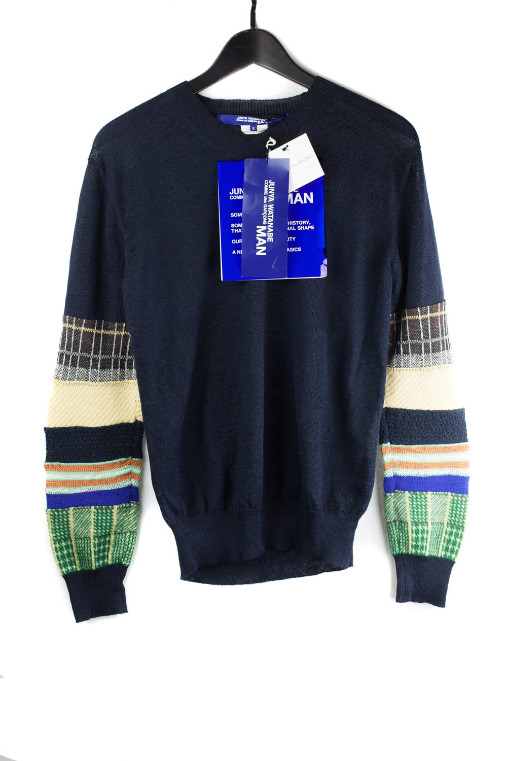 NWT Patchwork Multifabric Sleeved Sweater
