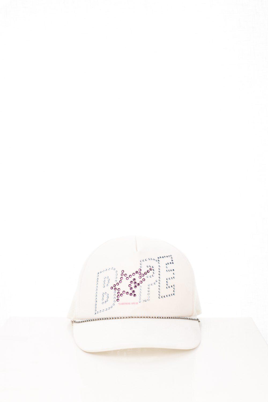 06 Bapesta White Swarovski Trucker Hat