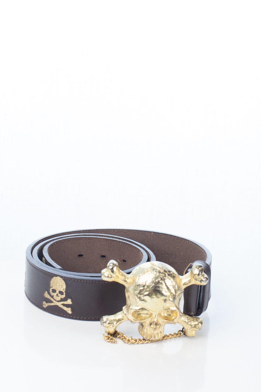 Gold MMJ x YoBoss bamf Skull Belt