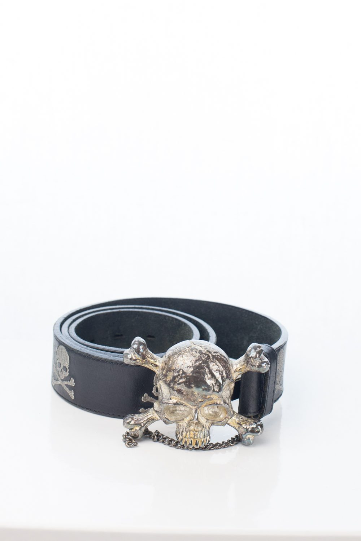 Silver/Rust MMJ x YoBoss bamf Skull Belt