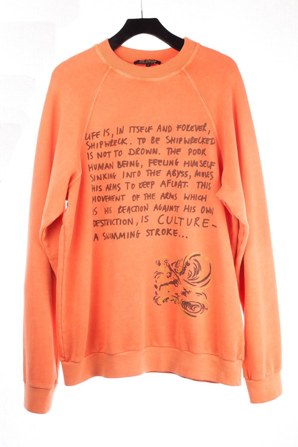 "FW04 ""Waves"" Orange Ortega Pullover"