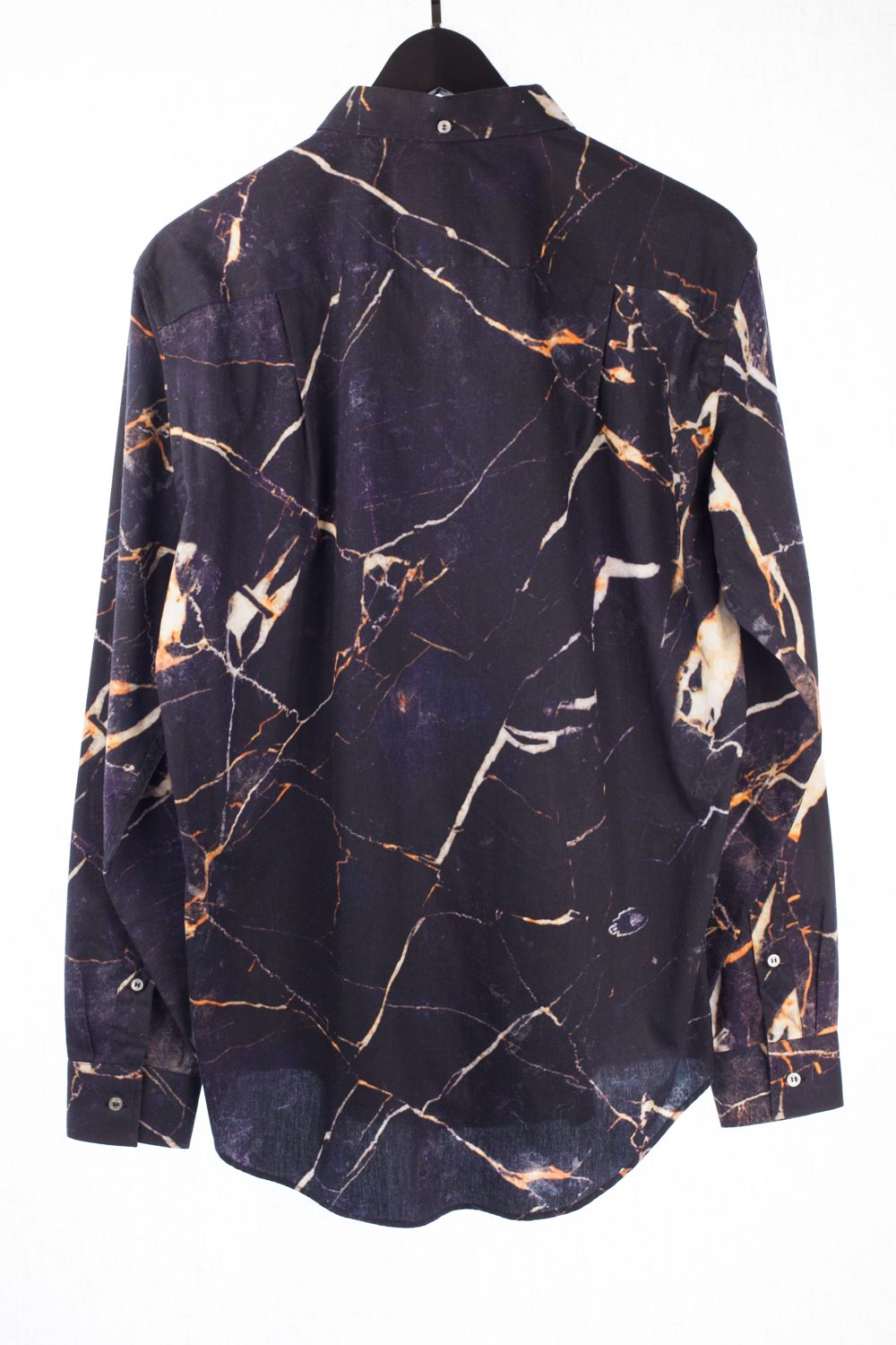 Marble Print Button Up