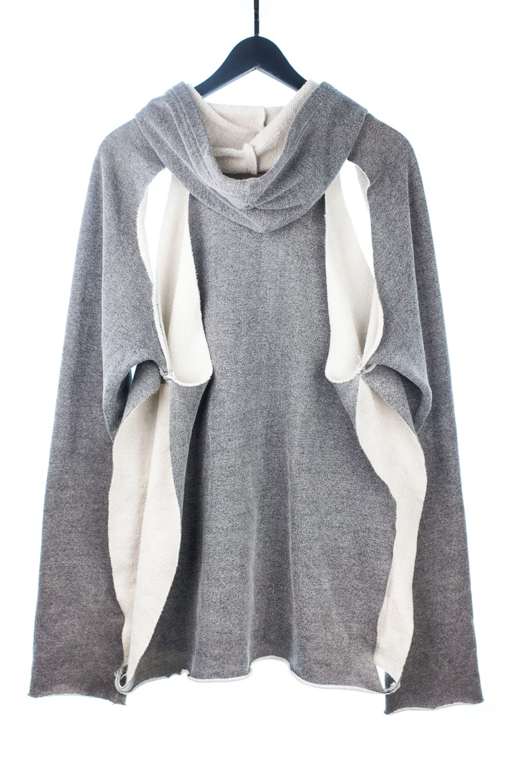 "SS03 ""Consumed"" Grey Cutout Hooded Sweater"