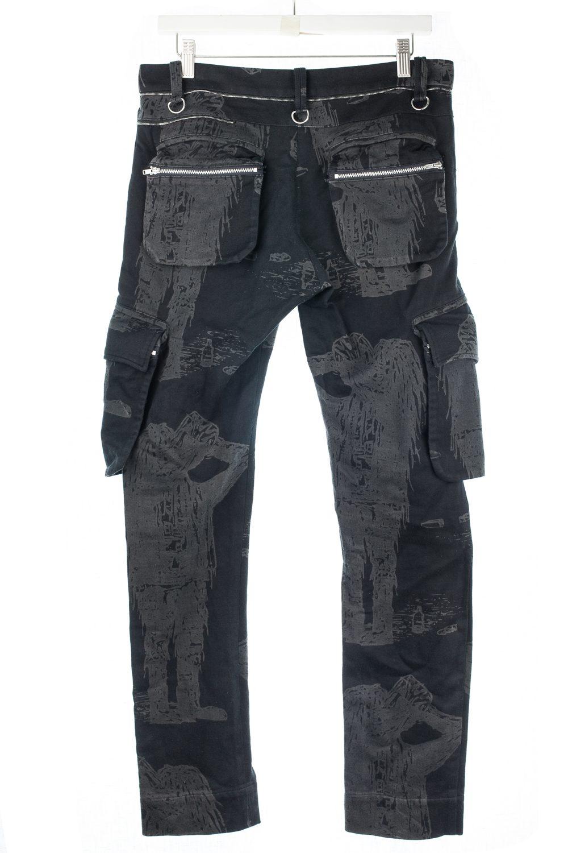 "SS03 ""Scab"" Drunkard Print Cargo Pants"