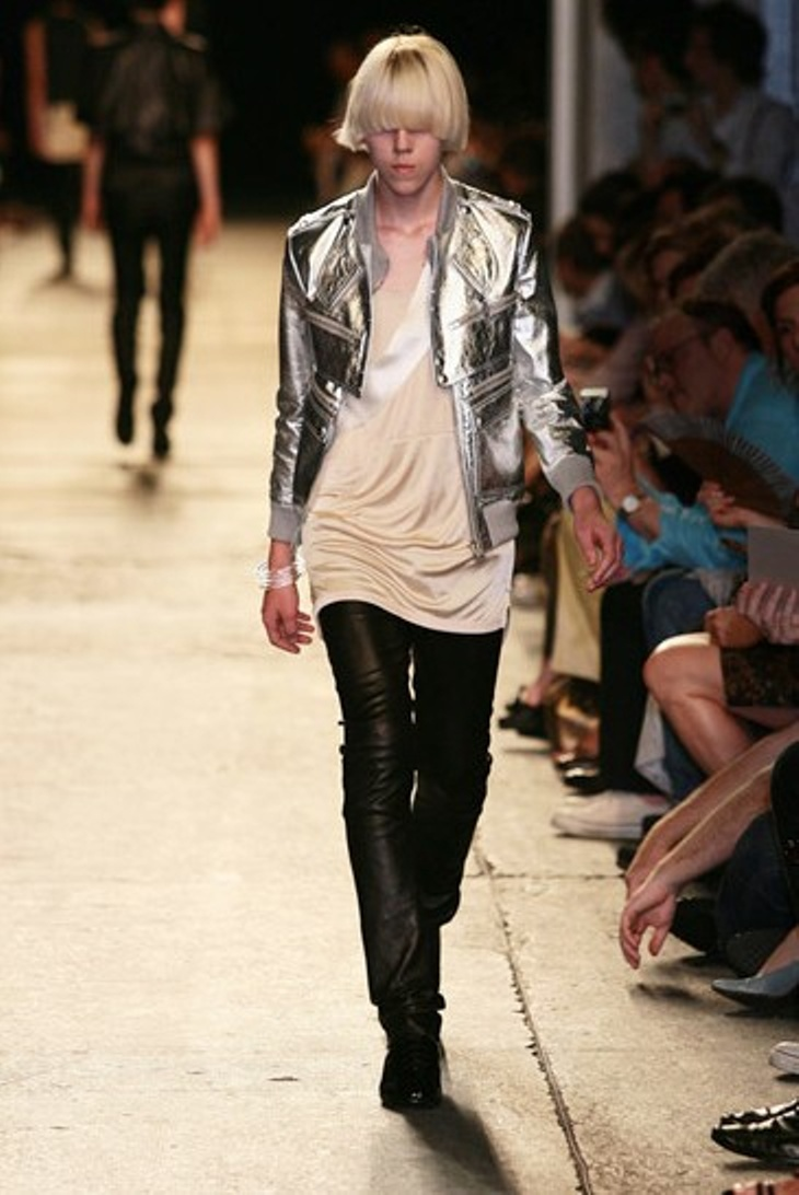 Hedi SS07 Runway Silver Leather Jacket